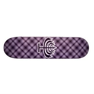 Purple Menorah Skate Boards
