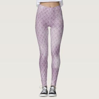Purple Mermaid Scaly Legs Leggings