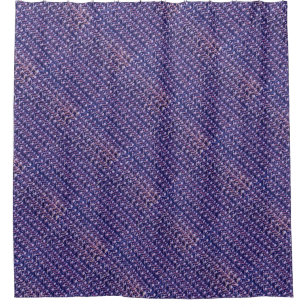 Purple Metal Chain Mail Metallic Mediaeval Style Shower Curtain