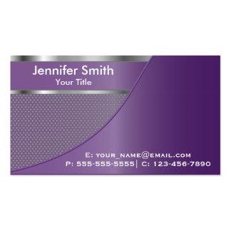 Purple Metal Mesh | Elegant Designed Template Pack Of Standard Business Cards