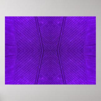 Purple Metal Poster