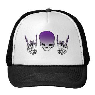 Purple Metal Skull Hat