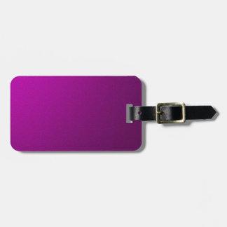 Purple Metallic Luggage Tag