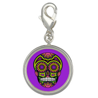 Purple Mexican Sugar Skull Day Of The Dead