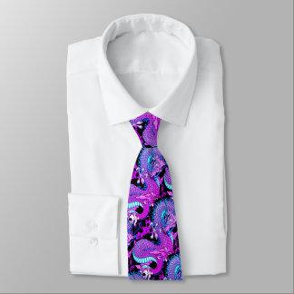 Purple Miami Splash Dragon in attractive colours Tie