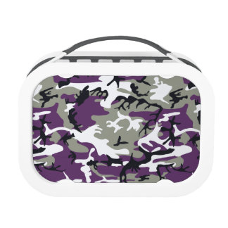 Purple Military Camouflage Lunch Boxes