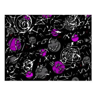 Purple mind postcard