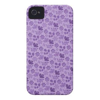 Purple Mini Flowers iPhone 4 Case-Mate Cases