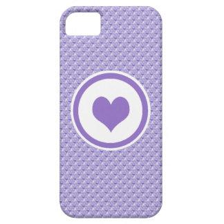 Purple Mini Hearts iPhone 5 Cases