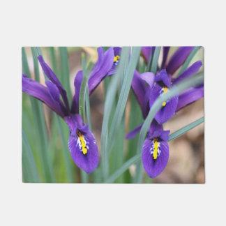 Purple Mini Iris's Door Mat
