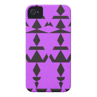Purple Minimal Tribal iPhone 4 Case