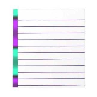 Purple & Mint Horizontal stripes Notepad