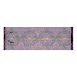 Purple Mobius Dragon Fractal Art Double-Sided Mini Business Cards (Pack Of 20)