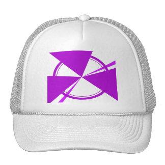 purple mod abstract mesh hats