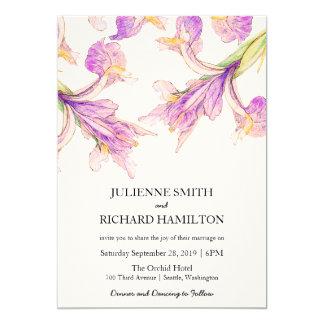Purple Modern Botanical Wedding Invitations