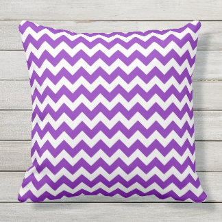 Purple Modern Chevron Stripes Pillow