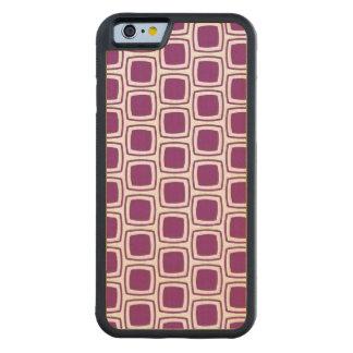 Purple Modern Geometric Pattern Carved® Maple iPhone 6 Bumper