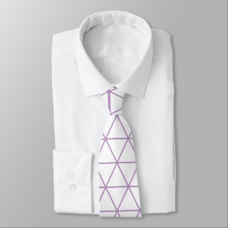 Purple Modern Geometric Tie
