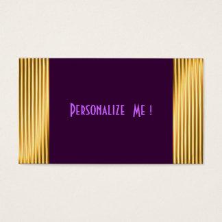 Purple Modern Gold Elegant Cool / House-of-Grosch Business Card