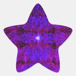 Purple Modern Textured Pattern Design Star Sticker