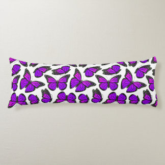 Purple Monarch Butterfly Pattern Body Cushion