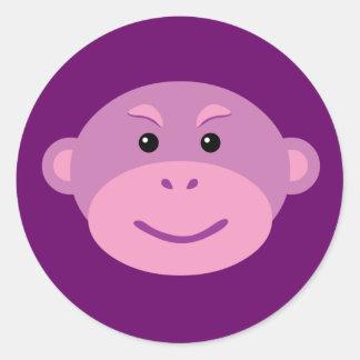 Purple Monkey Sticker