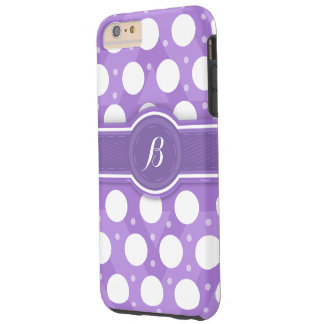 Purple Monogram(B) Polka Dots Iphone 6 Case