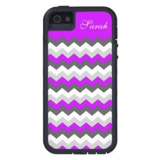 Purple Monogram Chevron ZigZag - Pick Your Color! Cover For iPhone 5