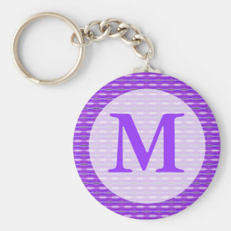 purple monogram key ring