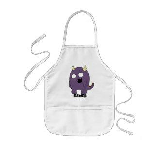 Purple Monster Apron