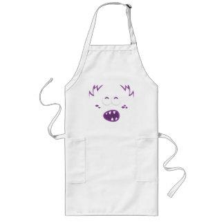 Purple Monster Face Apron