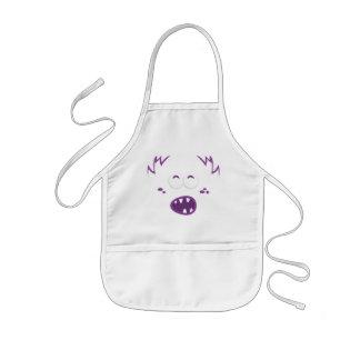 Purple Monster Face Kid s Apron