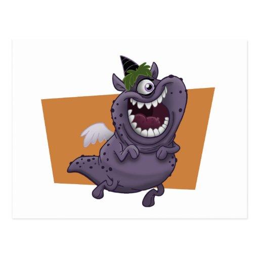 Purple Monster Postcard