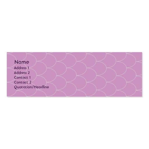 Purple Monster - Skinny Business Cards