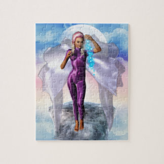 Purple Moon Fairy Jigsaw Puzzle