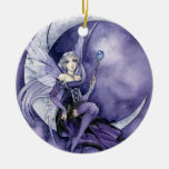 Purple Moon gothic fairy ornament