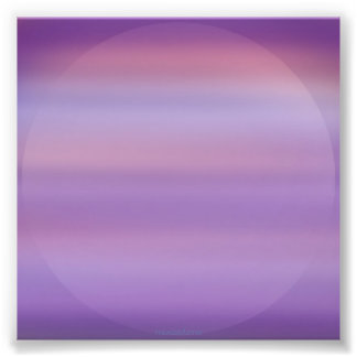 Purple Moon Mist Photo Print