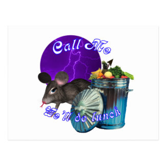 Purple Moon Rat Postcard