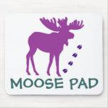 Purple MOOSE Pad Mouse Mat