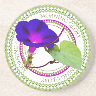 Purple Morning Glory Floral Photography Cut Out Coaster