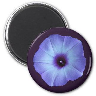 Purple Morning Glory Flower Stickers 6 Cm Round Magnet