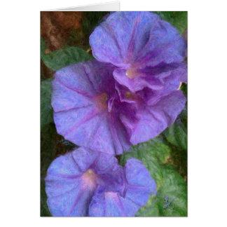 Purple Morning Glory Flowers Greeting Card