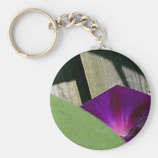 Purple Morning Glory Keychain
