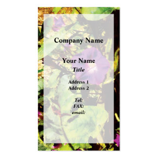 Purple Morning Glory Pack Of Standard Business Cards
