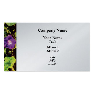 Purple Morning Glory  - Platinum Finish Pack Of Standard Business Cards