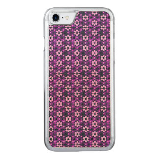 Purple Moroccan Flower Pattern Carved iPhone 8/7 Case