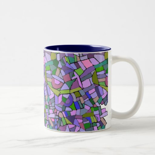 Purple Mosaic Abstract Coffee Mug