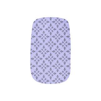 Purple Mosaic Pattern Minx Nail Art