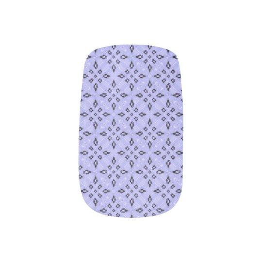 Purple Mosaic Pattern Nail Wrap