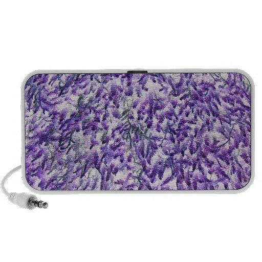 Purple moss pattern doodle speakers